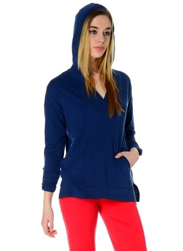 Asymmetry Sweatshirt Lacivert